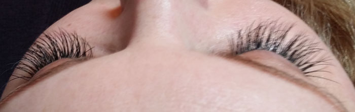 Client Completed Lash Extensions 01